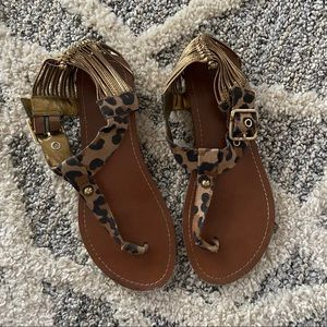 Mossimo Cheetah Strappy Sandals